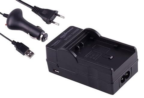 Photoprimus 3 in 1 Schnell Ladegerät mit Sicherheits- Abschaltautomatik zur Nutzung sowohl über KFZ Adapter, Netz und USB Anschluss. Passend für den Akku Panasonic VW-VBN260; Passend für: HC-X900 HDC-SD900 HDC-TM900 HC-X800 HDC-HS900 HDC-SD800 HC-X900M