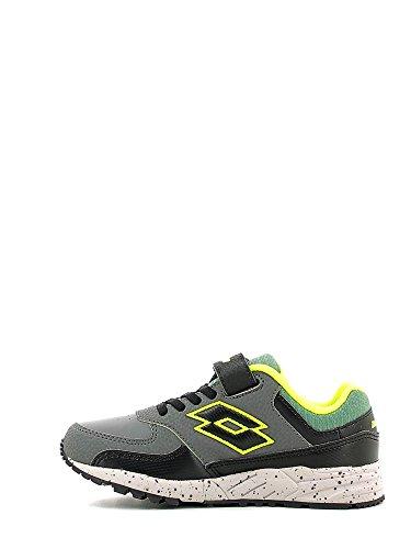 Lotto Strada Ii Cl Sl, Chaussures de Sport Mixte Bébé Multicolore - Gris / Negro (Asphalt / Blk)