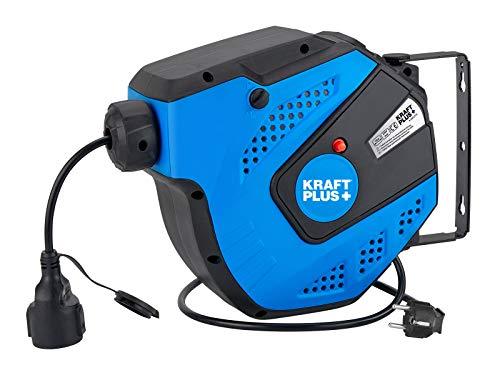KRAFTPLUS® K.933-2115 Enrouleur de câble automatique avec enrouleur de câble 15 m