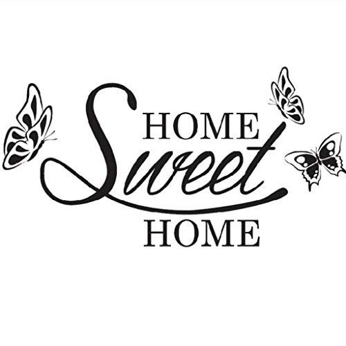 Sanahy Wandaufkleber SWEET HOME Schmetterling Selbstklebendes PVC Umweltschutz Kann entfernt werden Wanddekoration Haus Dekoration