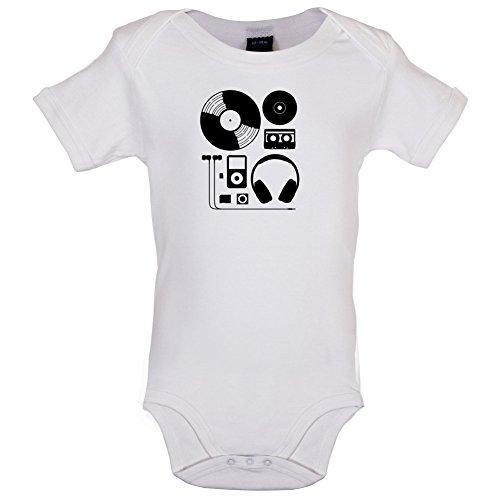 Dressdown Evolution of Music Hardware - Lustiger Baby-Body - Weiß - 12 bis 18 Monate 17 Ipod