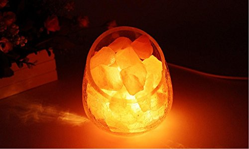ASL Crystal Salt Lampe Himalayan Rose Mineral Salz Lampe, Nachtlicht G9 Kleine Tischlampe 1kg Installierte Schlafzimmer Nachttisch Nacht Licht Geburtstag Geschenk A