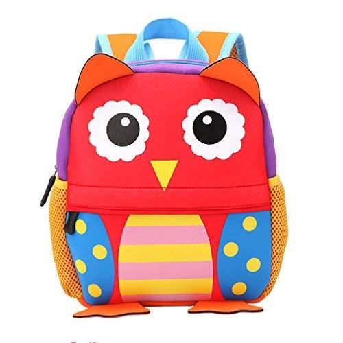 Zaino per bambini Animal Zaino per bambini bambino ragazzi ragazze Sacchetto di Scuola (Gufo)
