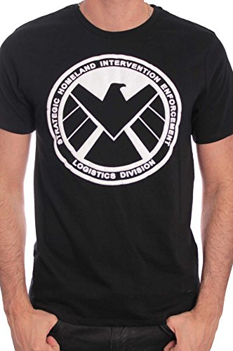 Marvel The Shield-T-shirt  Uomo    nero Small
