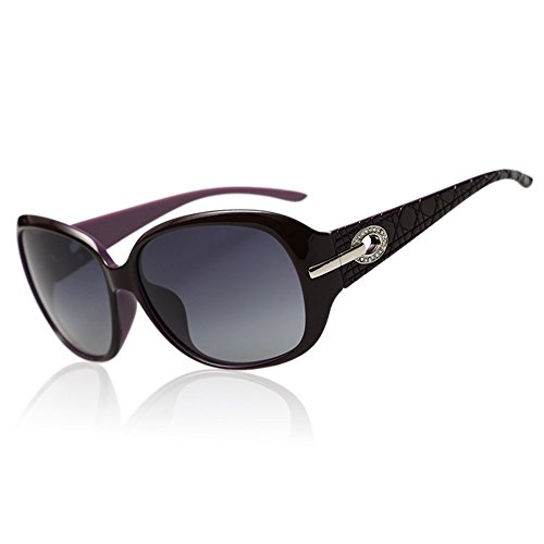 1abfe107128 Duco Women s Shades Classic Oversized Polarized Sunglasses 100% UV  Protection 6214 (Purple Grey)