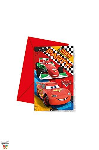 Speelgoed 81563P - Einladungen Cars Uitnodigingen 6 Stücke, mehrfarbig