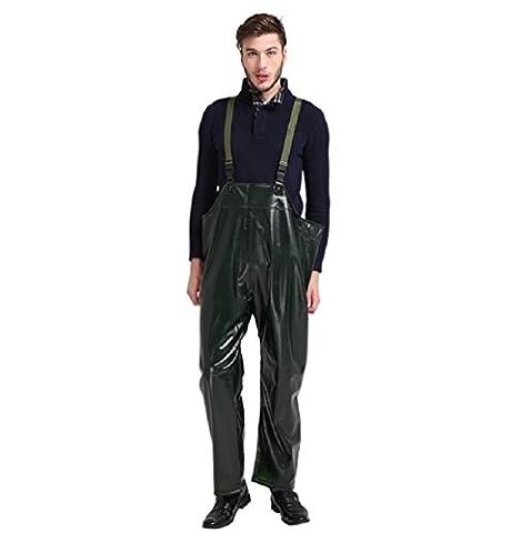 ZH&J Outdoor schwarze Hosen hohe elastische dicke Strap wasserdichte Hosen, hochwertige Oxford Tuch Anti-Tränen Tränenhosen, tragbare Taschen,black,one size