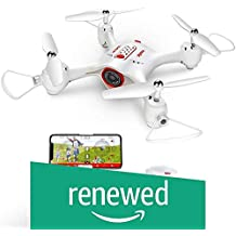 (Renewed) Jack Royal X23W FPV Real-Time Wi-Fi Camera Live Video APP Control Drone , with Flight Plan, Altitude Hold Landing Drone with 3D Flips and Headless Mode (White)