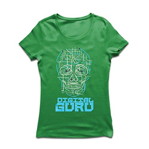 Frauen T-Shirt Der Digitale Guru - technologische, Computer, Programer oder Gamer Geschenkideen (XX-Large Grün Mehrfarben)