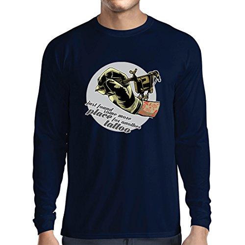 ren t Shirts Aerograph - Tätowierungs-Tinten-Maschine, ist Jeder Zoll Tätowiert, Coole Spitzen, Fan-Kleidung, Spaß-Geschenk-Ideen (XX-Large Blau Mehrfarben) (Machen Halloween-magazin)