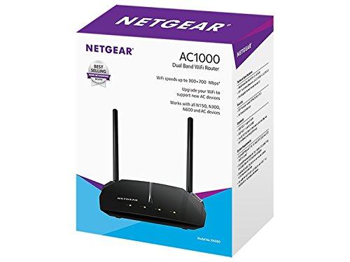 Netgear R6080-100INS AC1000 Dual-Band Wi-Fi Router (Black)