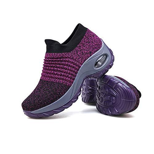ComMune Damen Sportschuhe Air Gym Running Sneaker Mode Mesh Socken Draussen schlüpfen Frauen Turnschuhe Gr.35-42 -