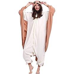 Pijama Ardilla Voladora, Onesie Modelo Animal Cosplay para Adulto entre 1,40 y 1,87 m Kugurumi Unisex