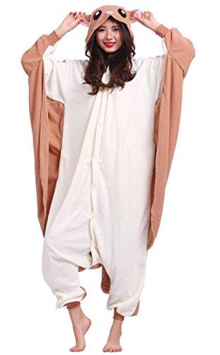 Unisexe Adulte Animal Cosplay Kigurumi Pyjama pour taille 140-187 cm - Écureuil Volant
