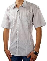 SELECTED HOMME Herren Hemd OLD FIVE Kurzarm Kentkragen Gestreift Taschen