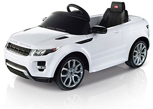 Rastar 12v Twin Motor Licensed Range Rover Evoque Kids Electric Ride-On Car with Parental Control (White) by Sliq Ideas - Electric Range