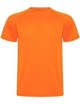 Roly Camiseta Técnica de Niños Montecarlo, Naranja Fluorescente