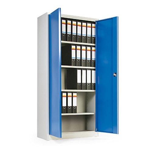 Flügeltürschrank klein mit blauen Türen