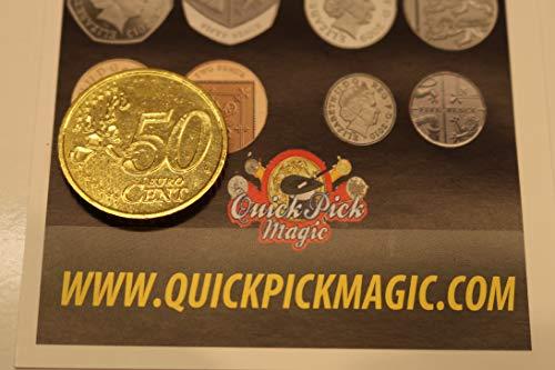 QUICK PICK MAGIC ZWEISEITIG 50 Cent Euro MÜNZE [50c Euro] KÖPFE AN BEIDEN Seiten / DOPPELTE Kopf Münze