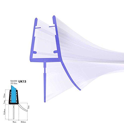 duschdichtung gebogen STEIGNER Duschdichtung, 80cm, Glasstärke 3,5/ 4/ 5 mm, Gebogene PVC Ersatzdichtung für Runddusche, UK13