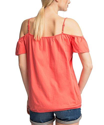 edc by ESPRIT Damen T-Shirt Rot (CORAL 645)