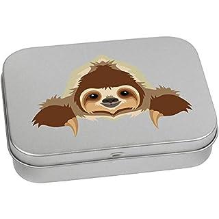 Azeeda 110mm 'Resting Sloth' Metal Hinged Tin / Storage Box (TT00090654)