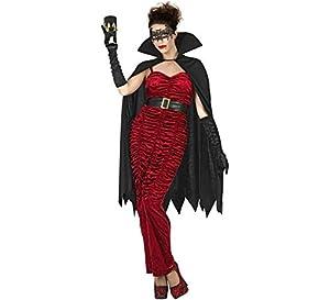 Atosa-53949 Atosa-53949-Disfraz Vampiresa para mujer adulto-talla XL morado, color (53949)
