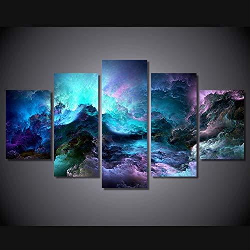 Mmwin HD Impreso Colores Abstractos Nubes Grupo Impresión