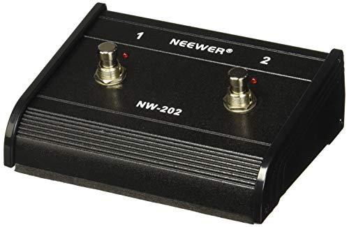 Neewer doppelt-kanal 2-Tasten-Fußschalter Kontrolleur Switcher mit Jack-Kabel für Gitarren-Bass und Keyboard-Verstärker mit Ein/Aus Schaltvermögen (NW-202)