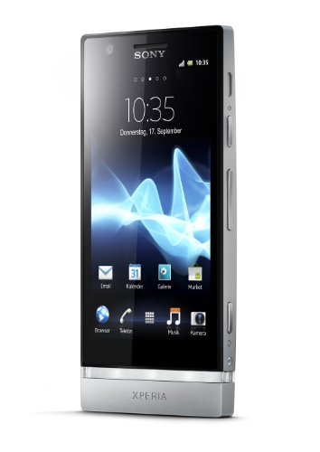 Sony Xperia P Smartphone (10,2 cm (4 Zoll) Touchscreen, 8 Megapixel Kamera, Android 4.0 OS) silber