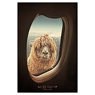 artboxONE Poster 60x40 cm Lama & Alpaka QUE PASA von Künstler Sunlight Studios