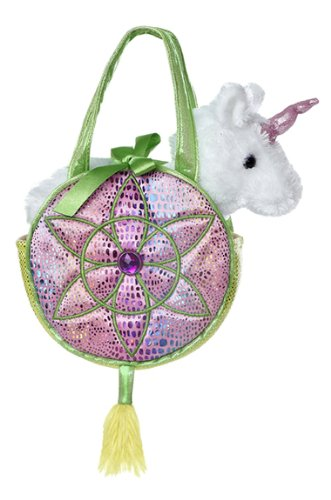 Aurora World Fancy Pals Toy Pet Carrier peluche rosa borsetta, Dreams