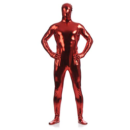 (unbrand Erwachsene Frauen Kinder Ganzkörper Jumpsuit Spandex Zip Up Body Zentai Morph Unsichtbare Cosplay Mens Fancy Dress Costume)