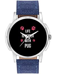 Wrist Watch For Men - Life Is Better With Pug | Best Gift For Pug Dog Lovers - Analog Men's And Boy's Unique Quartz...