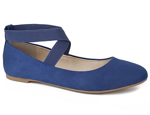 MaxMuxun Damen Geschlossene Ballerinas Flache Schuhe Blau Größe 37 EU (Flache Schuhe Blau)