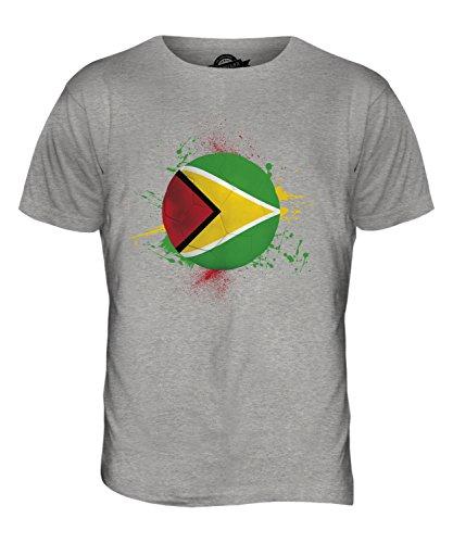 CandyMix Guyana Fußball Herren T Shirt Grau Meliert