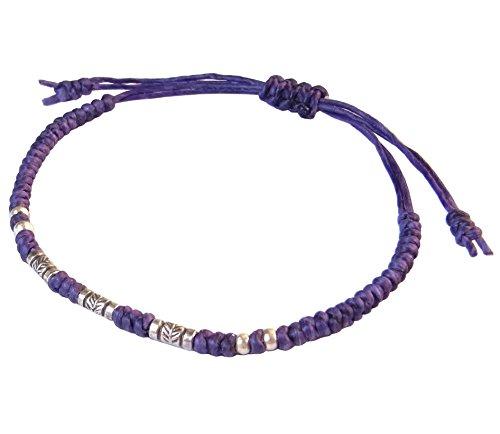 lun-na-asiatique-100-fait-main-argent-925-perles-de-plumes-bracelet-pourpre-ficelle-de-cire