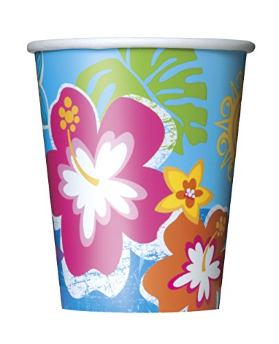 8-tazas-de-cartn-Festival-de-Hula-en-la-playa-250ml-One-Size