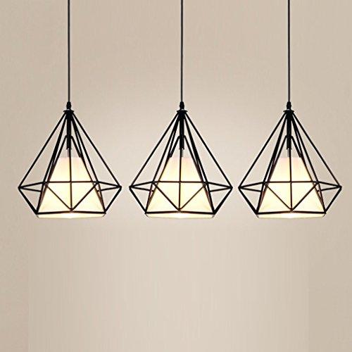 Moderne éclairage de plafond Creative Fer Forgé Lustre Bar ou Salle à manger Cloth Lamp Shade