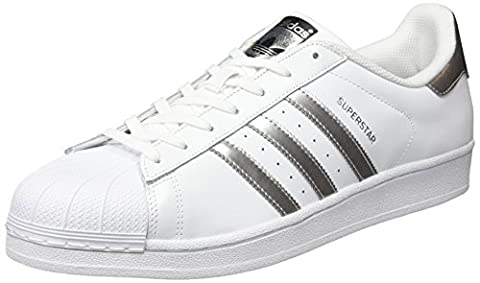 adidas Superstar, Chaussures de Basketball Mixte Adulte, Blanc (Ftwwht/silvmt/cblack), 40