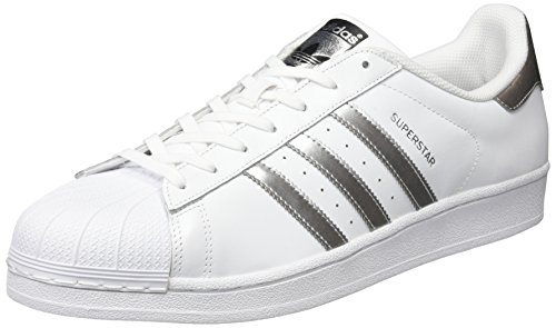 adidas Originals Superstar, Zapatillas Unisex Adulto, Blanco (Footwear WhiteSilver MetallicCore Black), 40