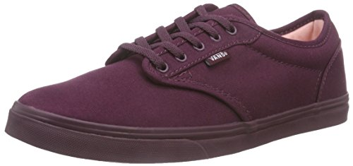 Womens Atwood Vans (Vans W Atwood Low, Damen Sneakers, Rot ((Mono Tone) Fig), 40.5 EU)