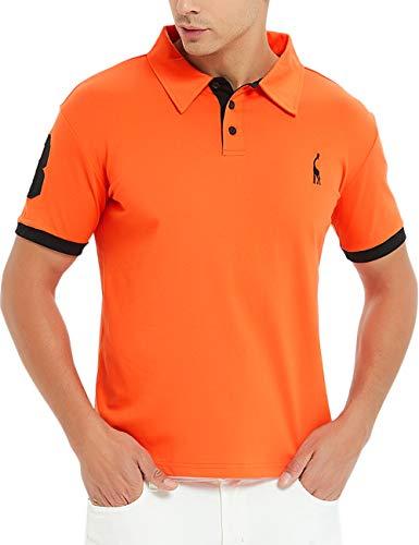 Glestore Polo Sport T-Shirt MT1030 Uni Homme, Orange, M