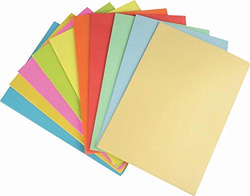 100 Blatt farbiges Druckerpapier / 10 verschiedene pastell,neon,intensiv Farben -