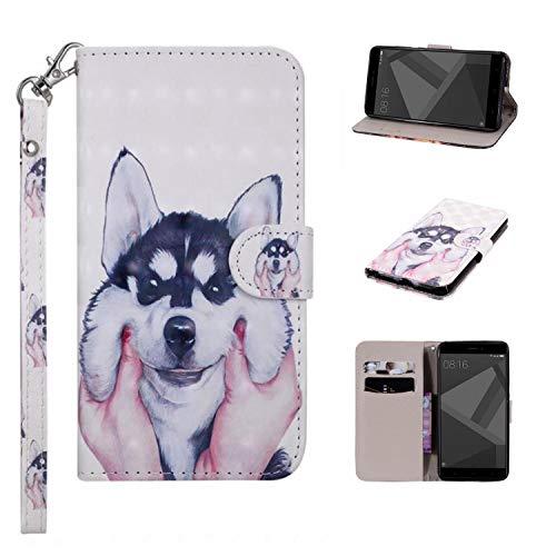 e, Geschäft Leder Wallet Schutzhülle Case Cover für iPhone 5C [Husky] ()