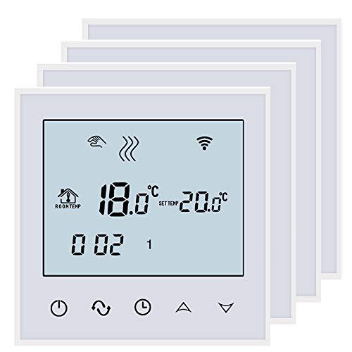 BEOK tds21wifi-ep Raumthermostat Thermostat Digital programmierbar Fußbodenheizung Elektrische Heizung Kabelloser Temperatur Controller -