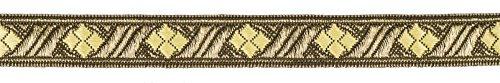 Ruther & Einenkel 18532/15-COL-1 Borte Dekorationsband (Rombe) 15 mm, altgold-gold / Aufmachung 5 (Kostüm Ideen Yourself Kinder Für It Do)
