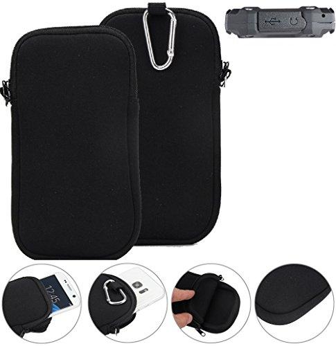 K-S-Trade Neopren Hülle für simvalley Mobile SPT-210 Schutzhülle Neoprenhülle Sleeve Handyhülle Schutz Hülle Handy Gürtel Tasche Case Handytasche schwarz