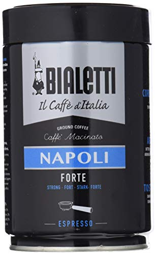 Bialetti Caffè Macinato per Espresso Napoli, 250 gr