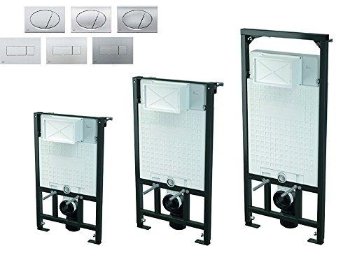 WC Vorwandelement inkl. Drückerplatte zur ECKMONTAGE Unterputzspülkasten, Bauhöhen 85 100 120 cm, Größe:85cm;Drückerplatte:oval-M71 - chrom-glanz